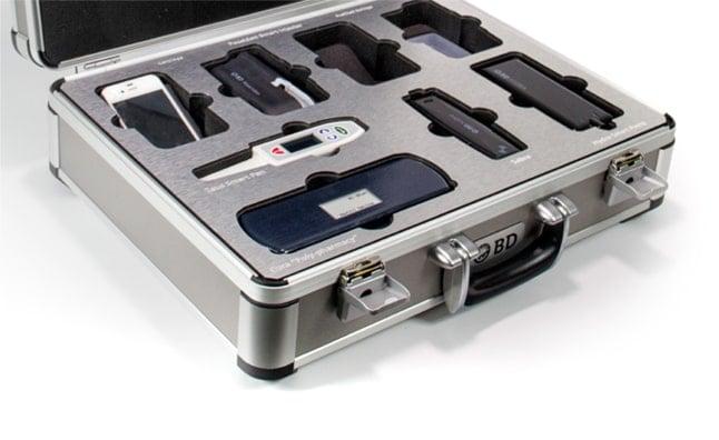 elite aluminum case with custom foam and printed cap