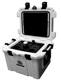 white pelican elite cooler with custom foam insert