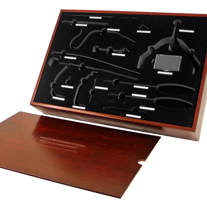 Wooden Surgical Instrument Display Case